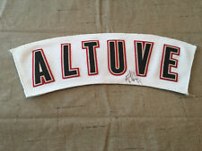 🔥 Houston Astros MiLB Game Used Jersey Nameplate some Autograph Altuve