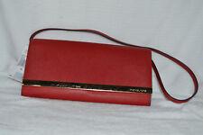 9001e0c72b40 Michael Kors Tilda Clutch Bag in Mandarin Saffiano Leather Brand Red NEW