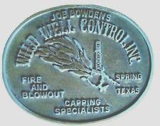 """Joe Bowdens Wild Well Control Brass Belt Buckle 3 1/2"""" X 2 3/4"""""""