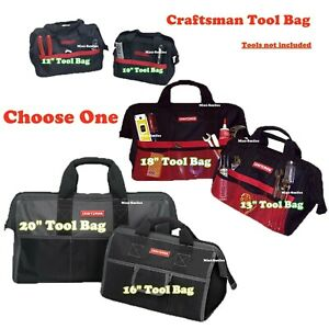 "Craftsman 10"" Or 12"" 13"" 16"" 18"" 20"" inch Tool Bag / Storage Wide Mouth."