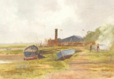 Fox - Signed Mid 20th Century Watercolour, Boats on the Medway