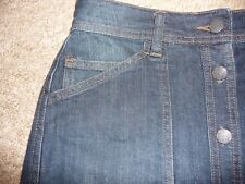 PAPAYA Button thru Denim skirt..Size 10  patch pockets belt loops  waist 28""