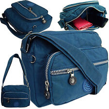 Sportliche Damentasche Modische UMHÄNGETASCHE Schultertasche Handtasche Blau Neu