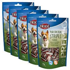 5 x Trixie Fish Chicken Stripes Pollock 75g Dog Treat Training Gluten Free Pack