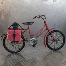 Blechmodell Fahrrad 32cm rot Metallmodell Bike Rad Blech Metall Satteltaschen