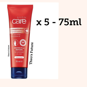 5 X AVON CARE HAND CREAM BALM CONCENTRATED UNSCENTED EXTREMELY DRY SKIN JOB LOT
