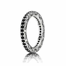 NEW! Authentic Pandora Eternity Black CZ Ring #190618NCK-52 (6) RETIRED