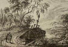 WEIROTTER `BACHLANDSCHAFT MIT EINEM BILDSTOCK´ RADIERUNG, W. 4 III, ~1759