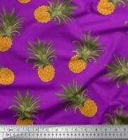 Soimoi Stoff Ananas Obst Stoff 1 Meter bedrucken - FT-11B