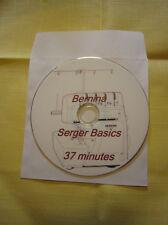 BERNINA Serging Basics Instruction DVD Easy Way To Learn Serging