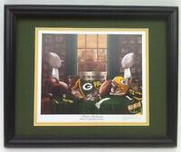 Green Bay Packers football framed nostalgia print