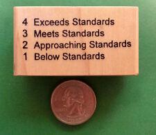 Standards Evaluation 4321 Teacher's Rubber Stamp