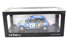 NOREV 1990 RENAULT 5 GT TURBO RALLEY MONTE CARLO BLUE 1/18 DIECAST CAR