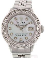Ladies Vintage Rolex Datejust SS Diamond Watch 6517
