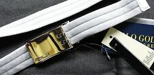 RLX Ralph Lauren Silver Nylon Belt-Gürtel Gr S