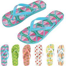 Women's Fruit Flip Flops Slippers Summer Slim Thong Sandal Beach Bathroom Shoes