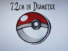 Quality Iron/Sew on Pokeball patch POKEMON pikachu ash misty brock catch em all