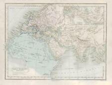 1864 - Original Antique Map ORBIS VETERBUS NOTUS Ancient World by Butler (01)