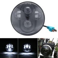 """5.75"""" 5-3/4"""" LED Headlight BLK For Harley Davidson Breakout cross bone Blackline"""