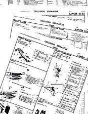 1961 1962 DODGE LANCER 170 770 GT BODY PARTS LIST FRAME CRASH SHEETS $