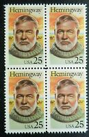 2418 MNH 1989 25c Ernest Hemingway B4 Old Man Sea Farewell Arms Sun Also Rises