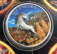 The Majestic Unicorn Colorized 1 oz .999 Fine Silver Coin Intaglio Mint