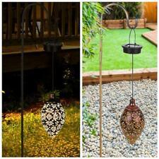Outdoor Solar Garden Lamp Lantern Hanging Light LED Waterproof Patio Lamp A7D9
