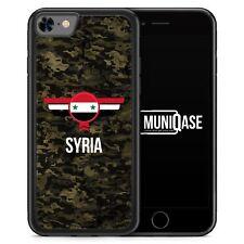 iPhone 8 Hülle SILIKON - Syrien Syria Camouflage mit Schriftzug - Motiv Design