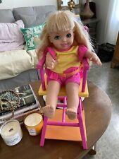 "Mattel Sister of Barbie Cuddly Soft Body Kelly Doll 16"" High Chair Desk 2001"