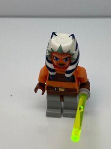 Lego Star Wars: Ahsoka Tano (Padawan) Minifigure With Light Saber