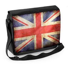 Union Jack Flag Laptop Messenger Bag - UK Great Britain
