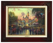 Thomas Kinkade Disneyland 50th Anniversary Canvas Classic (Brandy Frame)