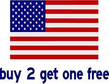 "American Flag Sticker Bumper Sticker - USA - Patriot 4"" x 6"" - GoGoStickers"