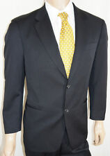 40S HUGO BOSS Suit Mens 40 S Black *USA* Super 100 Wool 2Btn Front 33W 27L