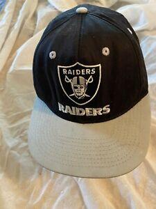 Raiders Snap Back Hat Cap Reebok NFL Oakland Official Team Apparel