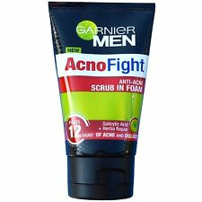 Garnier Men AcnoFight Anti Acne Scrub in Foam Facial Cleanser 100ml