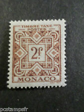 MONACO 1946/57, timbre TAXE 33, neuf**, VF MNH STAMP, TAX