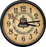 Retro Vintage Bell Telephone System Telegraph System Operator Sign Wall Clock
