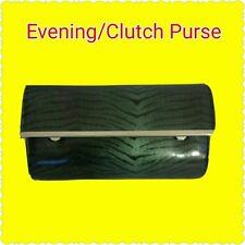Ladies Fancy Green and Black Zebra Print Evening Clutch Purse