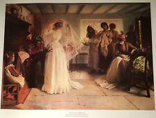 1989 The Wedding Morning By John Henry Frederick Bacon 21�x26� Royle Print Bride