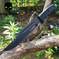 12.2IN 420 High Carbon Stainless Steel Fixed Blade Full Tang Knife Serrated Edge