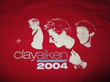 "2004 Clay Aiken ""Independent"" Concert Tour (Xl) T-Shirt Queen"