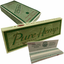 25 PURE HEMP 79mm 1 1/4 Tree Free Rolling Papers Full Box