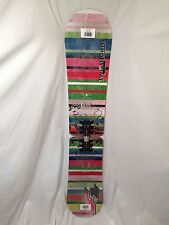 BEGINNER GIRLS/WOMEN'S F2 GLAM TWIST BOARD 144CM SNOWBOARD FREE Stomp Pad