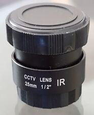 IR Infrared CCTV Camera 2.5mm CS C Mount Lens Fixed Iris F1.6 AU Stock NOS
