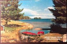 Vintage Postcard Greetings From Delevan, Wisconsin - Lake Geneva