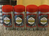 Lot of 4 Old Spice Wild Collection Hawkridge Deodorant 2.6 oz Red Cap Blue Deo