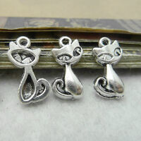 20pc Tibetan Silver Fox Animal Charms Pendant Findings Accessories P532P