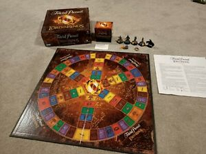 Lord of the Rings Movie Trilogy Trivial Pursuit Board Game collectors edition