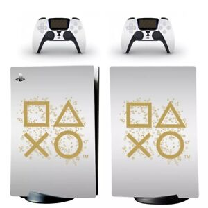 PS5 Console Ps Gold Logo Symbols Sticker skin wrap - Sony PlayStation 5